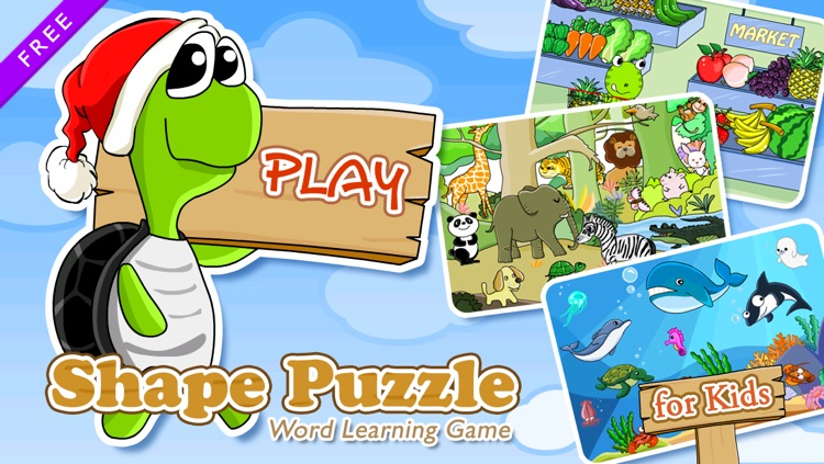 Shape Puzzle Free - Word Learning Game for Kids