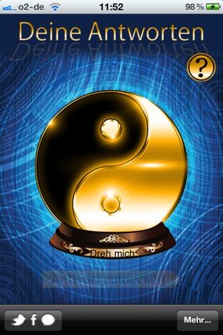 Antworten Orakel - Das magische Orakel als Entscheidungshilfe für alle Fragen des LebensScreenshot von 1