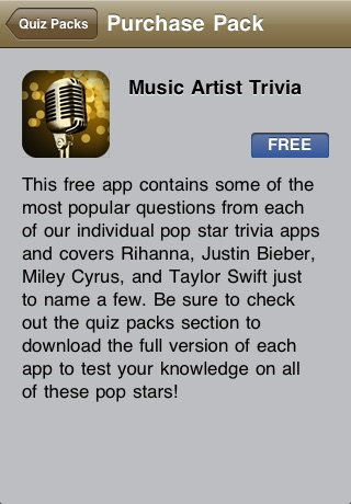 Music Artist Trivia App