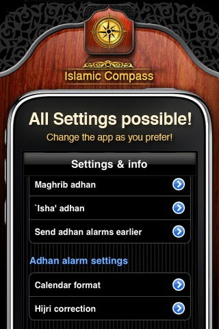 Islamic Compass: Prayer Times & Athan Alarm screenshot-3