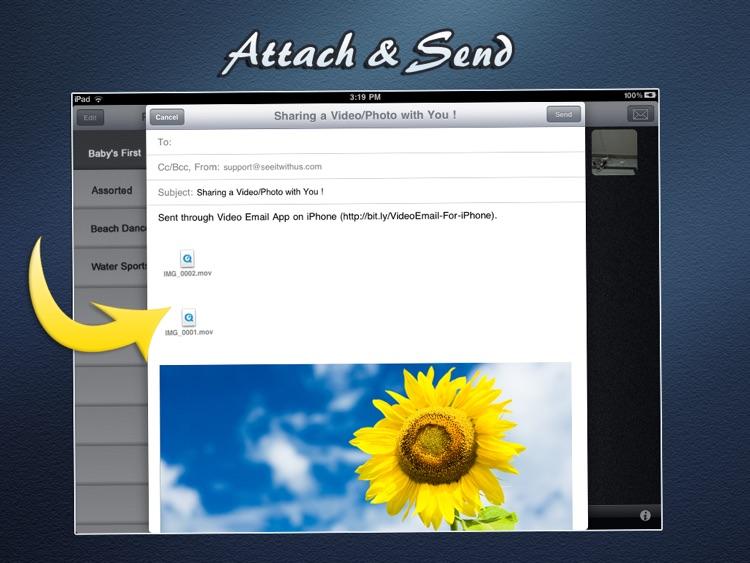 Video (& Photos) Email For iPad screenshot-3