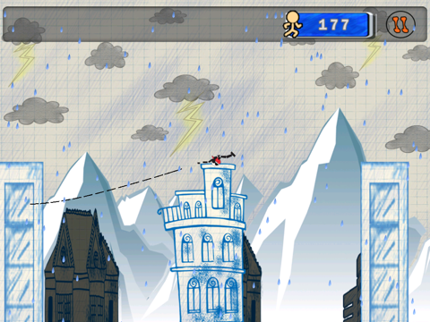 Stick-man Swing Adventure: Tight Rope And Fly screenshot