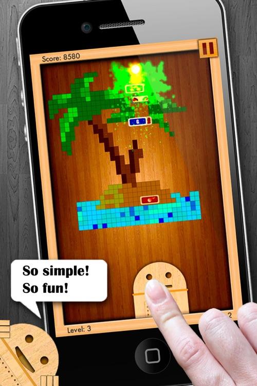 Woodroid HD+: Pixelart brick breaker screenshot-4
