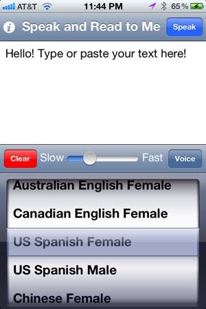 Speak and text