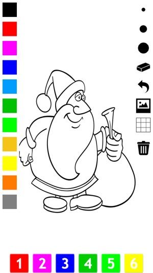 Boyama Kitabı çocuklar Için Noel Noel Baba Kardan Adam Elfler Ve