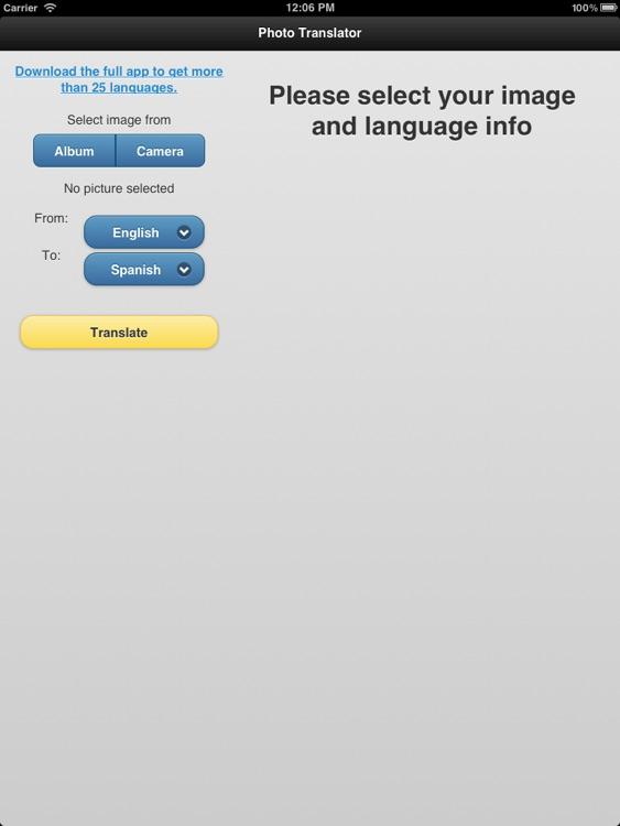 Photo Translator for iPad Pro