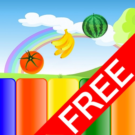 Kids Fruit Piano for iPad Lite icon