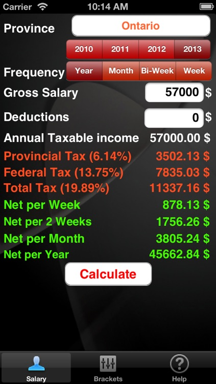 CaTax - Salary Tax Calculator