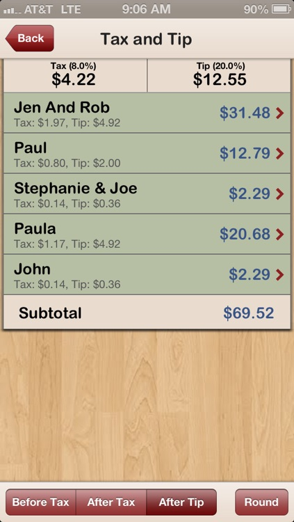 Separate Checks with QuickSplit - The Best Check Splitter / Tip Calculator...Period screenshot-2