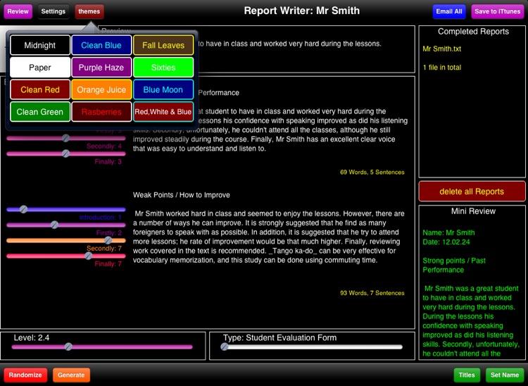 Student Report Writer
