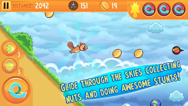 Kew Kew - The Crazy & Nuts Flying Squirrel Game screenshot-0
