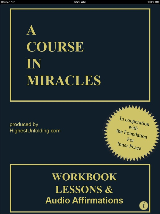 A Course In Miracles: Workbook for Students HD