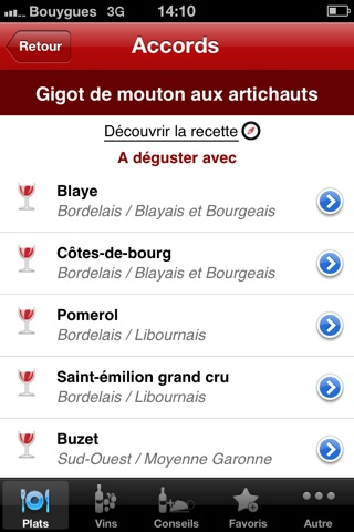 Accords Mets & Vins screenshot1