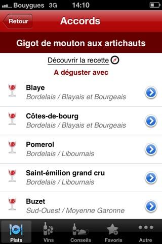 Screenshot for Accords Mets & Vins in Lebanon App Store