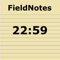 A quick & simple note taking application which will automatically time stamp each entry