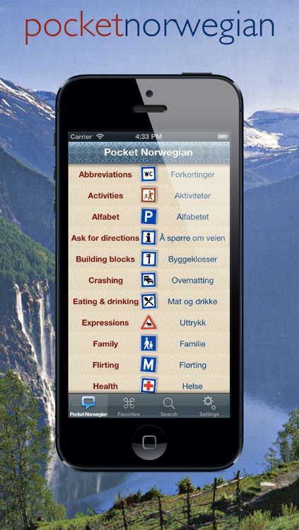 Pocket Norsk | handy Norwegian phrasebook with speech