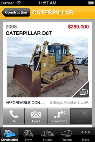 Screenshot of Affordable Construction Equipment