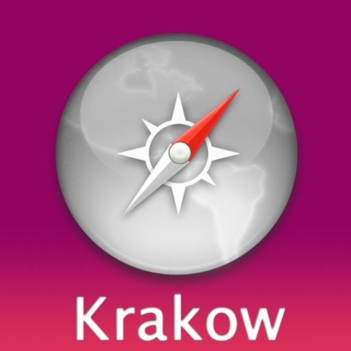 Krakow Travel Map (Poland)