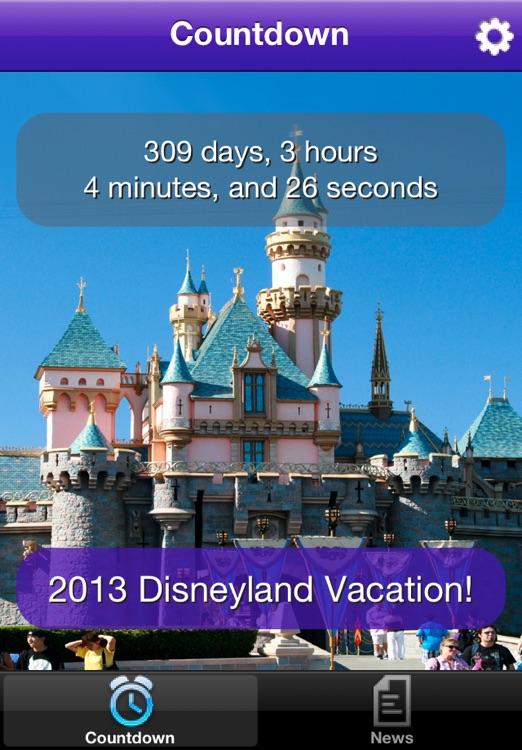 Disneyland Vacation Countdown