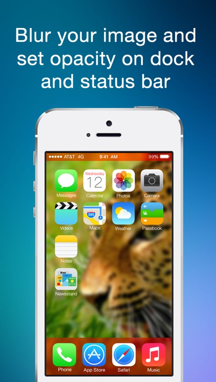 Color Statusbar and dock wallpaper creator with blur