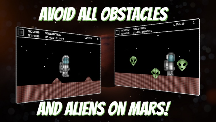 Mars Quest free retro 8-bit C64 game and cult remake of Commodore 64 games