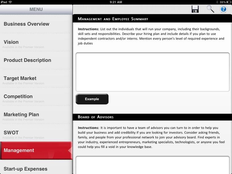 Business Plan - Lite screenshot-3