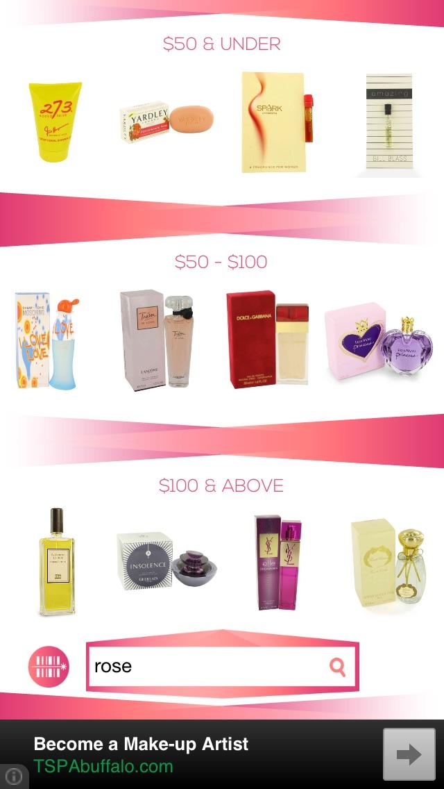 Perfumes Screenshot