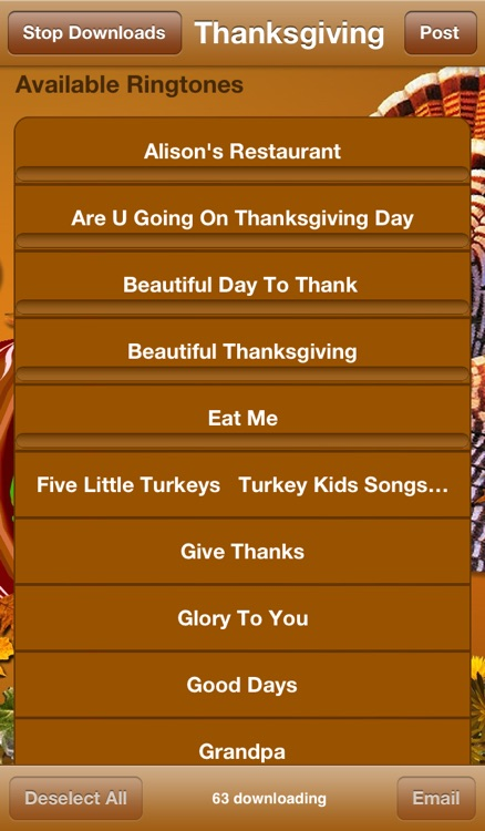 Thanksgiving Ringtones screenshot-0