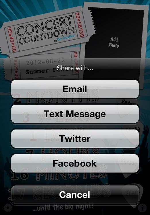 Concert Countdown screenshot-4