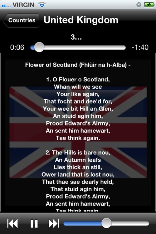 World National Anthems (With Lyrics) screenshot-4