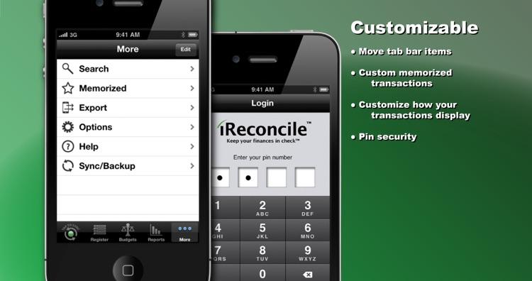 iReconcile - Checkbook, Budgeting, & Reporting screenshot-3