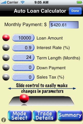 Auto Loan / Lease Calculator