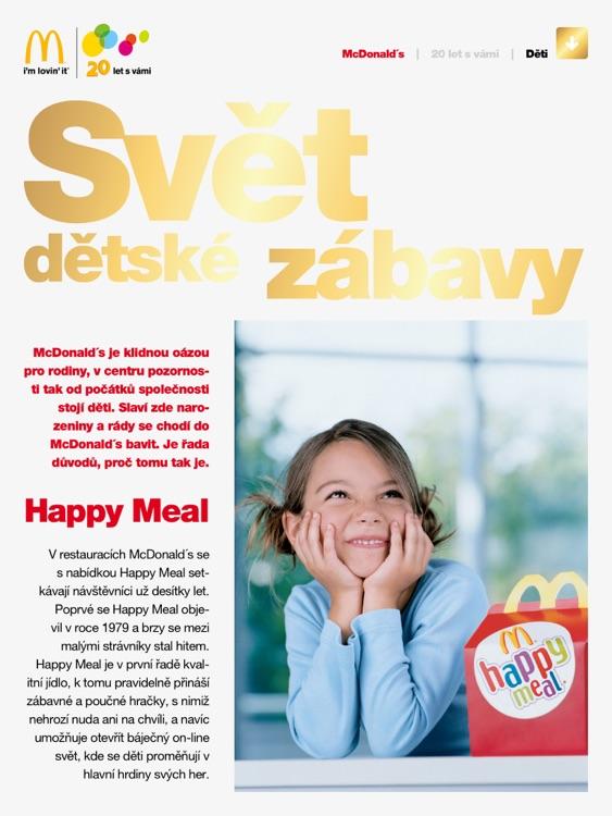 McDonald's 20 let s vámi screenshot-3