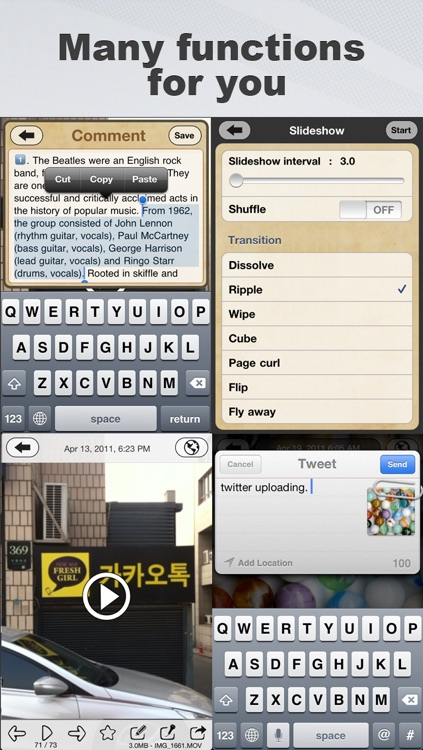 Awesome Photo Calendar + Memo & Audio Recording screenshot-4