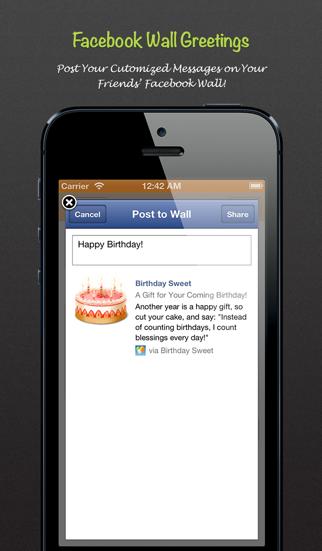 Birthday Sweet - Birthday calendar & reminder for Facebook Screenshot