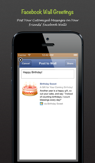 Birthday Sweet - Birthday calendar & reminder for Facebook Screenshot