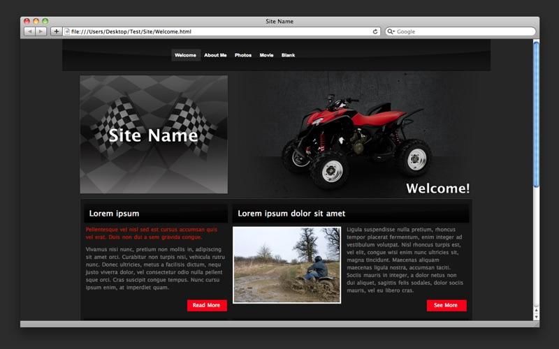 Theme Designs for iWeb скриншот программы 3