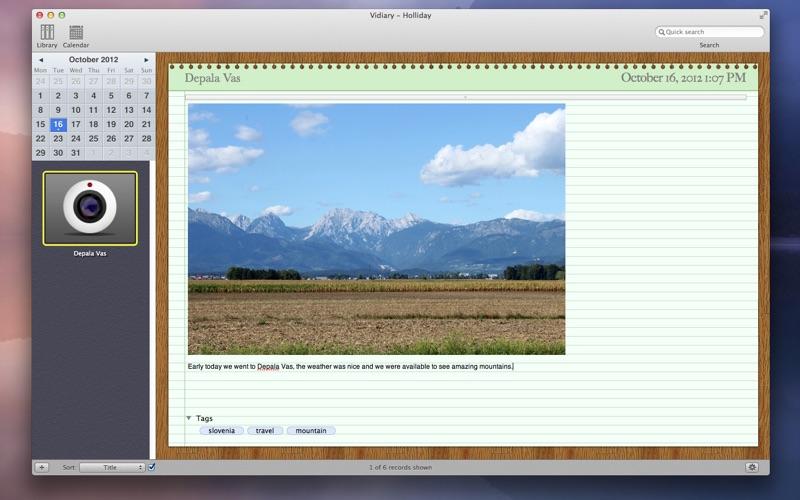 Vidiary Screenshot
