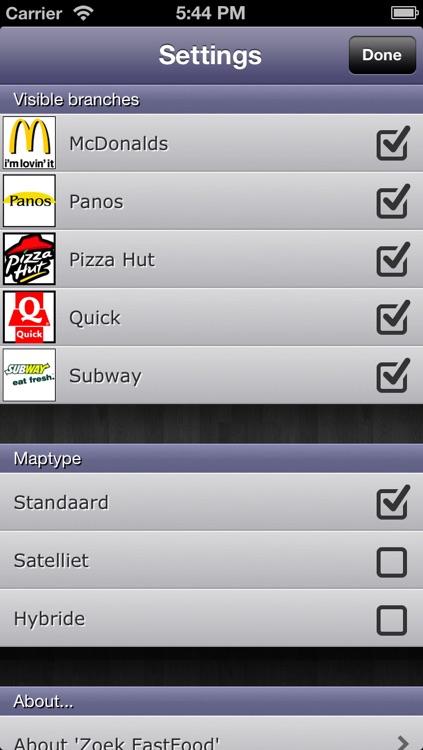 Zoek Fastfood Belgium screenshot-4