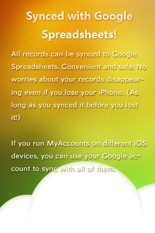 MyAccounts - Sync with Google Spreadsheets screenshot-4