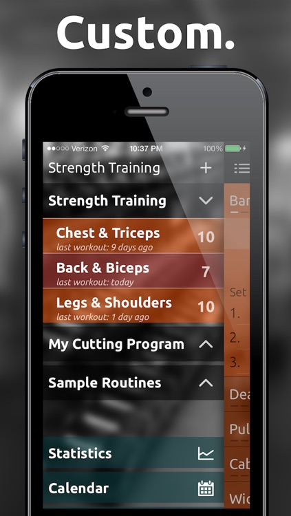 Fitted Lifts - Workout log and exercise tracker for bodybuilding and weight training screenshot-3