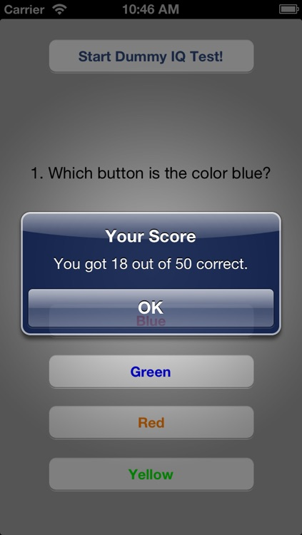 Dummy IQ Test