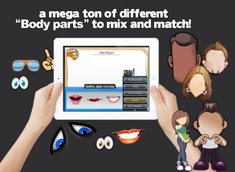 Screenshot of Character and Avatar Maker - Design Your Own Cartoon mascot Character