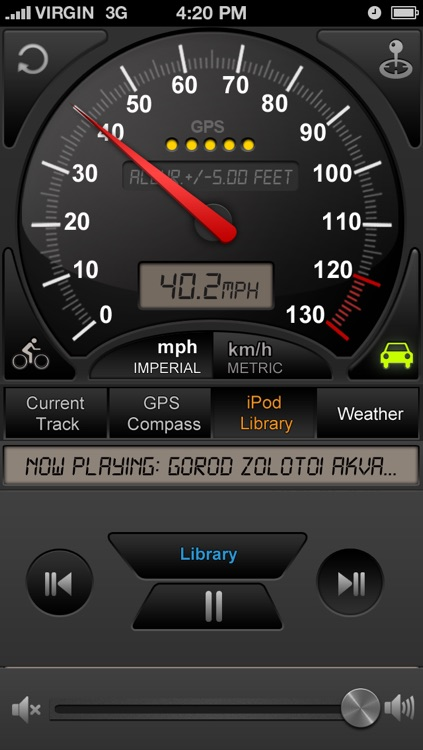 GPS speedometer Trip Computer (Car speedometer, Bike cyclometer ) screenshot-3