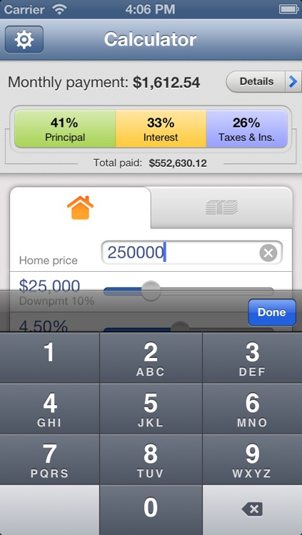 Mortgage Calculator for iPhone