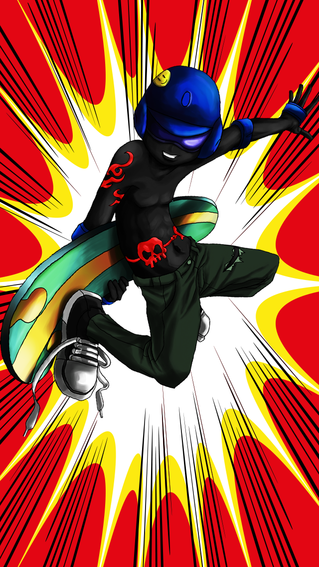 Awesome Fun Stick-man Skate-r Run Game-s For Boy-s Pro screenshot one