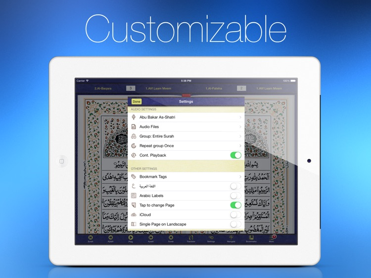 Quran Kareem for iPad screenshot-3