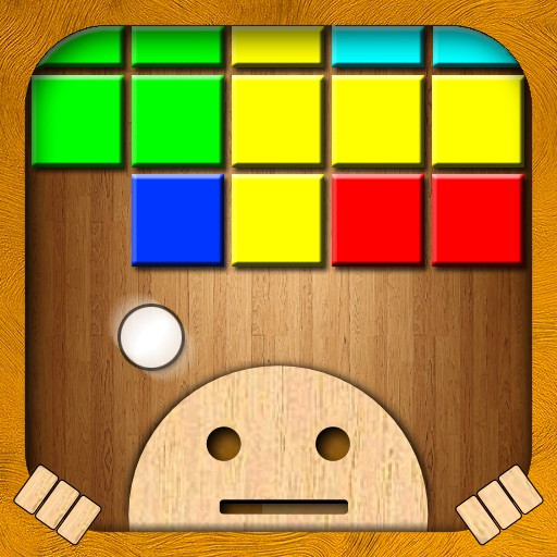 Woodroid HD+: Pixelart brick breaker icon