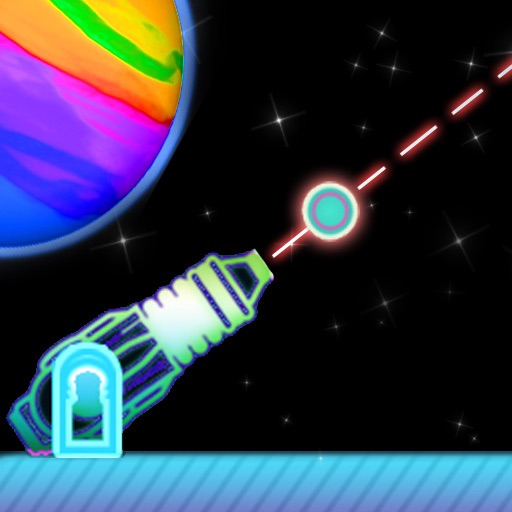 Neon Space Cannon - Free Physics Space Game! icon