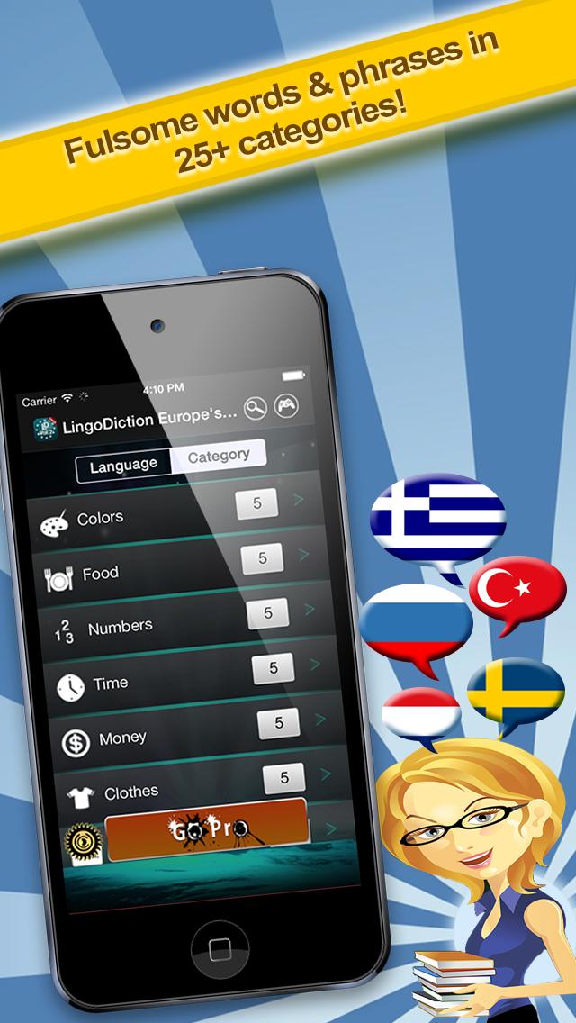 LingoDiction: Dutch, Turkish, Russian, Swedish & Greek